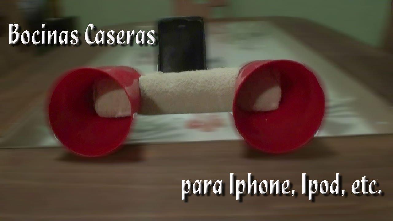 Como hacer unas bocinas caseras para iphone ipod etc - Como hacer una shisha casera ...