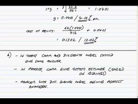 ACCA F9 December 2013 Question 2 Cost of capital