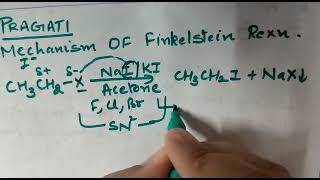 Class 12 organic chemistry : mechanism of Finkelstein reaction