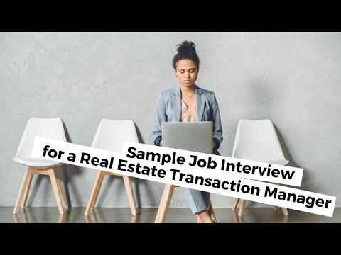 Andy – Real Estate Transaction Manager (sample interview)