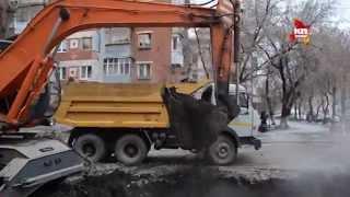 В Самаре ведутся ремонтные работы на месте прорыва трубы с горячей водой(, 2014-11-20T14:04:15.000Z)