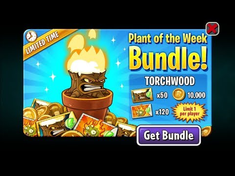 Plants Vs Zombies 2 Battlez Week 54 Over 1.2 Mill No Premium Loadout (TorchWood)