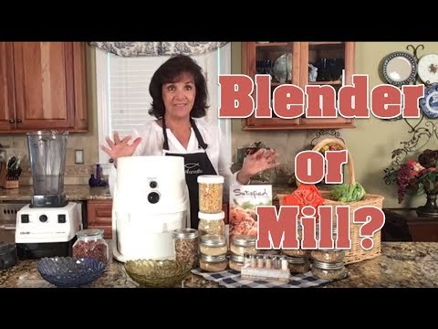 2-Ways To Make Flour At Home | Blender Vs Flour Mill