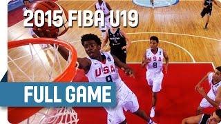 USA v Argentina - Round of 16 - Full Game - 2015 FIBA U19 World Championship
