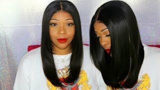 How To Cut Face Framing Layers At Home | Lace Frontal Wig With No Baby Hairs