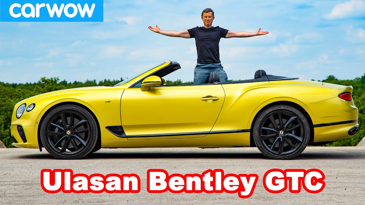 Bentley Continental GT Convertible review - lihat seberapa cepat atapnya TERBUKA!