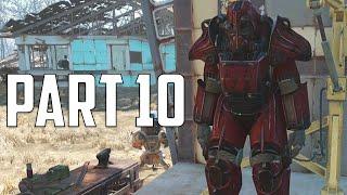 """Fallout 4 Walkthrough - Part 10 """" POWER ARMOR FLAMES PAINT JOB"""" (Let"""