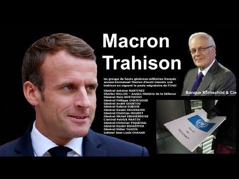 Macron Trahison - Telle est l'accusation d'un groupe de généraux de l'armée française