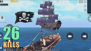 NEW PIRATE SHIP IN PUBG MOBILE | 26 KILLS | SOLO SQUAD thumbnail