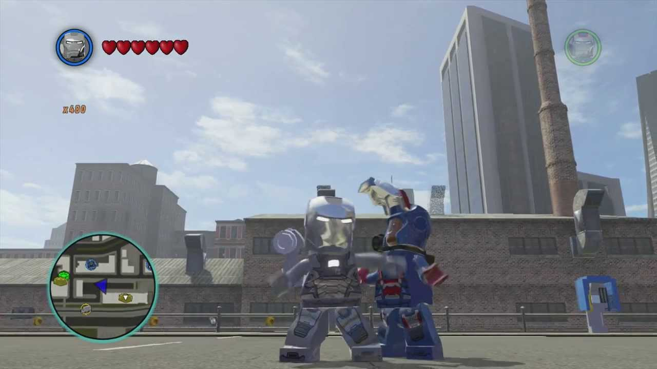 LEGO Marvel Superheroes - War Machine Free Roam Gameplay ...