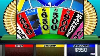 Wheel of Fortune (9/10/18) - BigJon Simulated (Mitch, Christina & Georgeanne)