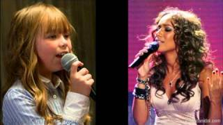 Connie Talbot and Leona Lewis - Footprints in the sand