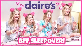 Claire's BFF Shopping Haul | Best Friends Sleepover Party | Quinn Sisters