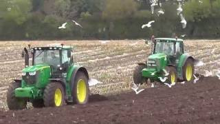ploughing sowing with john deere case ih tractors