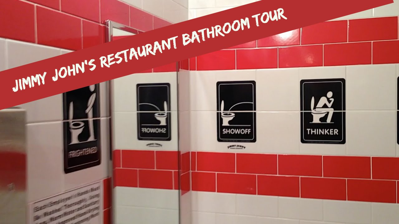 Bathroom John jimmy john's restaurant bathroom tour - youtube