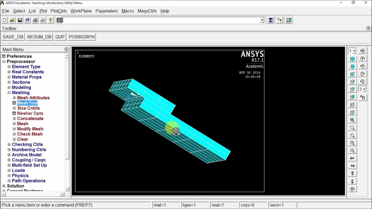 Plane strain 2d cylinder stress analysis in APDL 16 0
