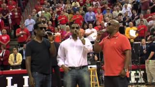 Rutgers vs Providence Basketball - National Anthem Live by Grace Lee