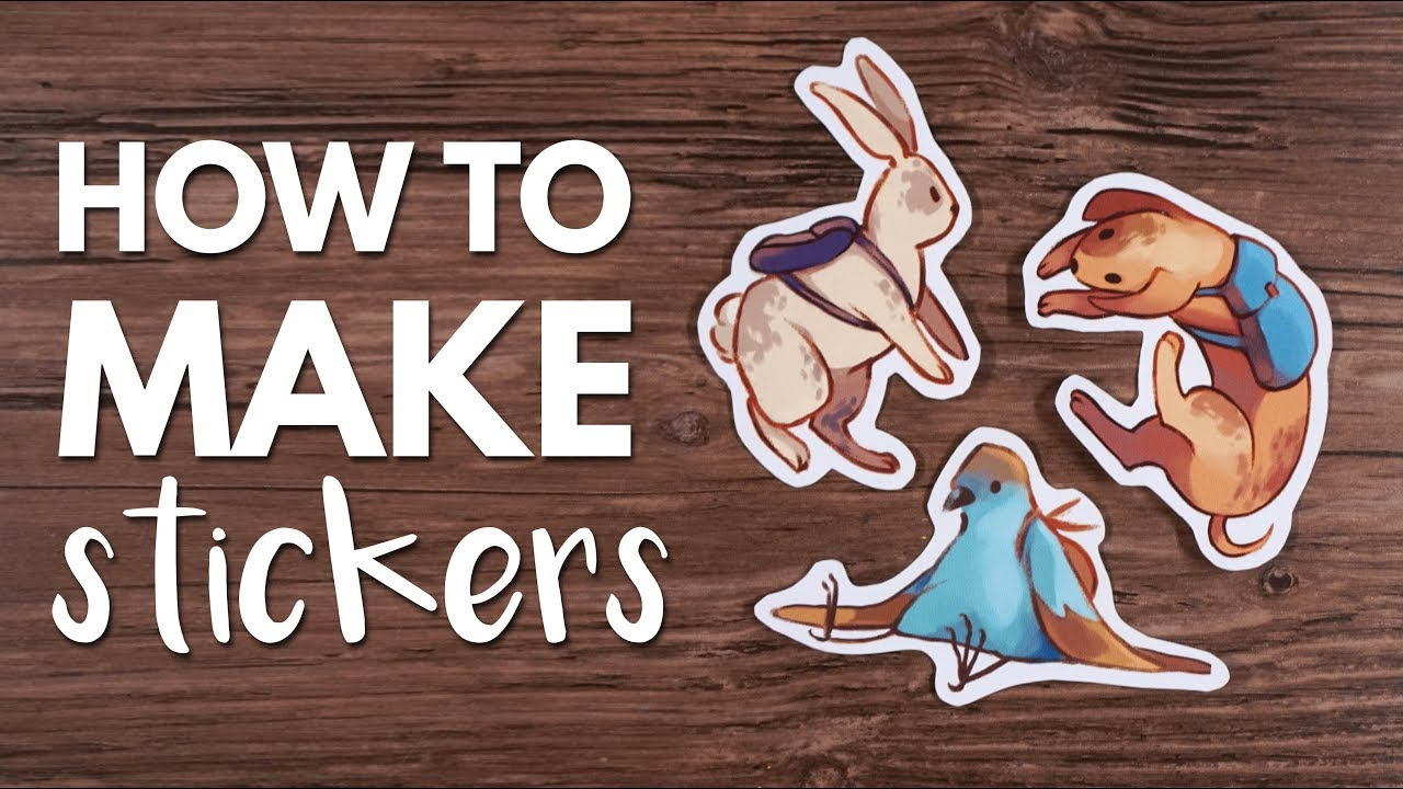 How to make stickers from home tutorial