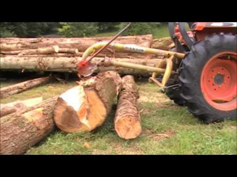 The ORIGINAL Atom Splitter,  300 Ton Log Splitter, Works from all Hydraulic Augers