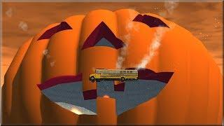BeamNG Drive Vehicles Vs Giant Pumpkin on Halloween Hill - Insanegaz