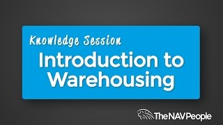 Knowledge Session - Introduction to Warehousing