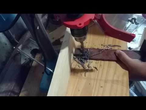 taladro de columna | prueba en hierro de 5 mm vs broca 10 mm