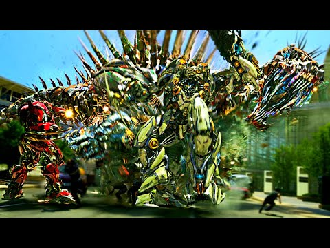 Transformers Age of Extinction  - Dinobots Charge Scene (1080pHD VO)