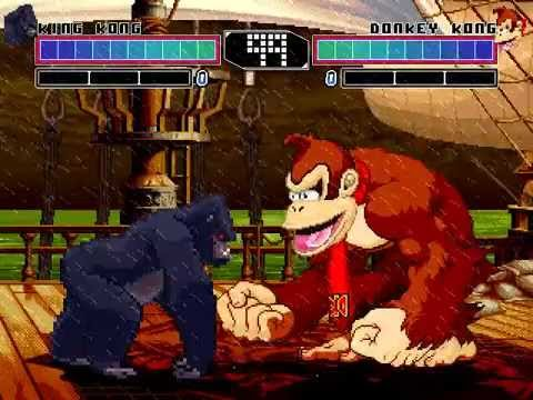 MUGEN King of Kongs King Kong vs Donkey Kong YouTube