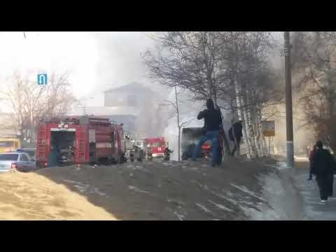 20.03.2019 горит автобус 22 маршрута (Ижевск)