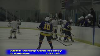 Acton Boxborough Girls Ice Hockey at Andover 1/31/15