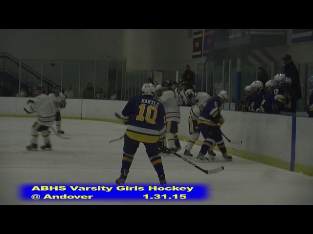 Acton Boxborough Girls Ice Hockey at Andover 1/31/15