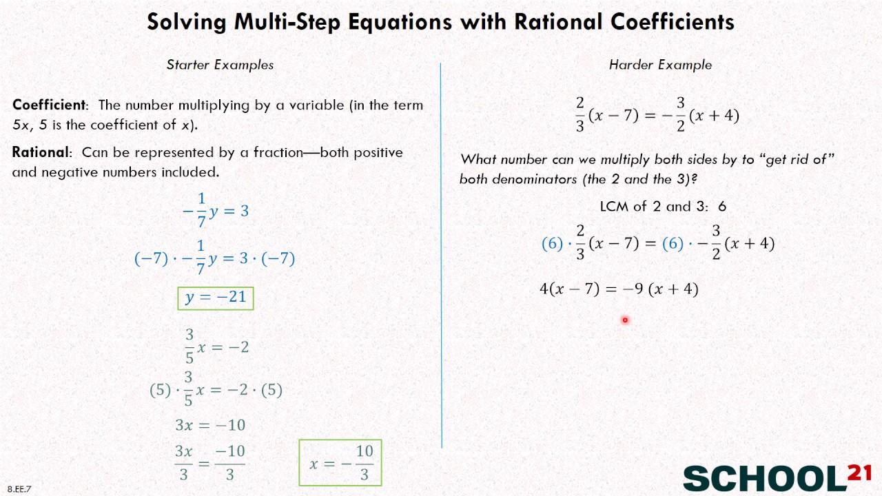 medium resolution of Solve Equations - Grade 8 (examples