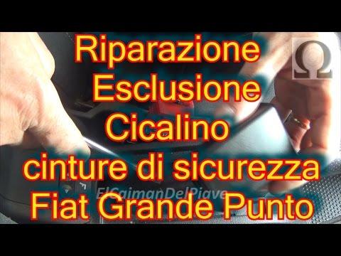 prezzo di strada vasta gamma elegante nello stile Come disattivare cicalino cinture sicurezza Fiat Grande ...
