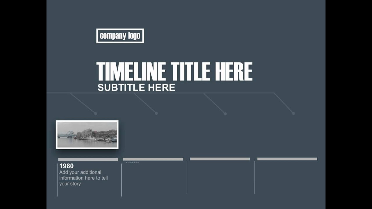 Modern Blue Keynote Timeline Templates For Sale YouTube - Timeline template keynote