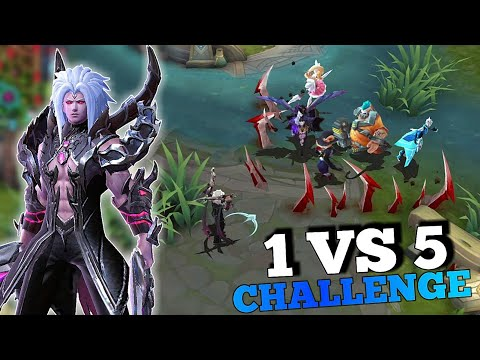 NEW HERO MARTIS ! 1 VS 5 CHALLENGE CUSTOM MODE | 100 KILLS? | MOBILE LEGENDS
