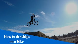 how to do whips on a bike