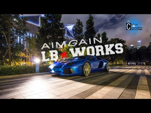 Liberty Walk Aventador With Aimgain Wing In Singapore