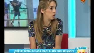 La Mole y Coki Ramírez afuera del Bailando 2015