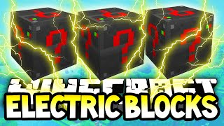 Minecraft Electronic Lucky Blocks! Minecraft Modded Lucky Block Staircase!