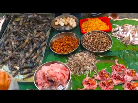 Asian Street Food, Morning Market Street Food In Cambodia, Country Foods