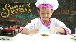Mainan Membuat Sandwich Milkshake Susu + Behind the scene adegan lucu Jessica syuting 💖 Bloopers