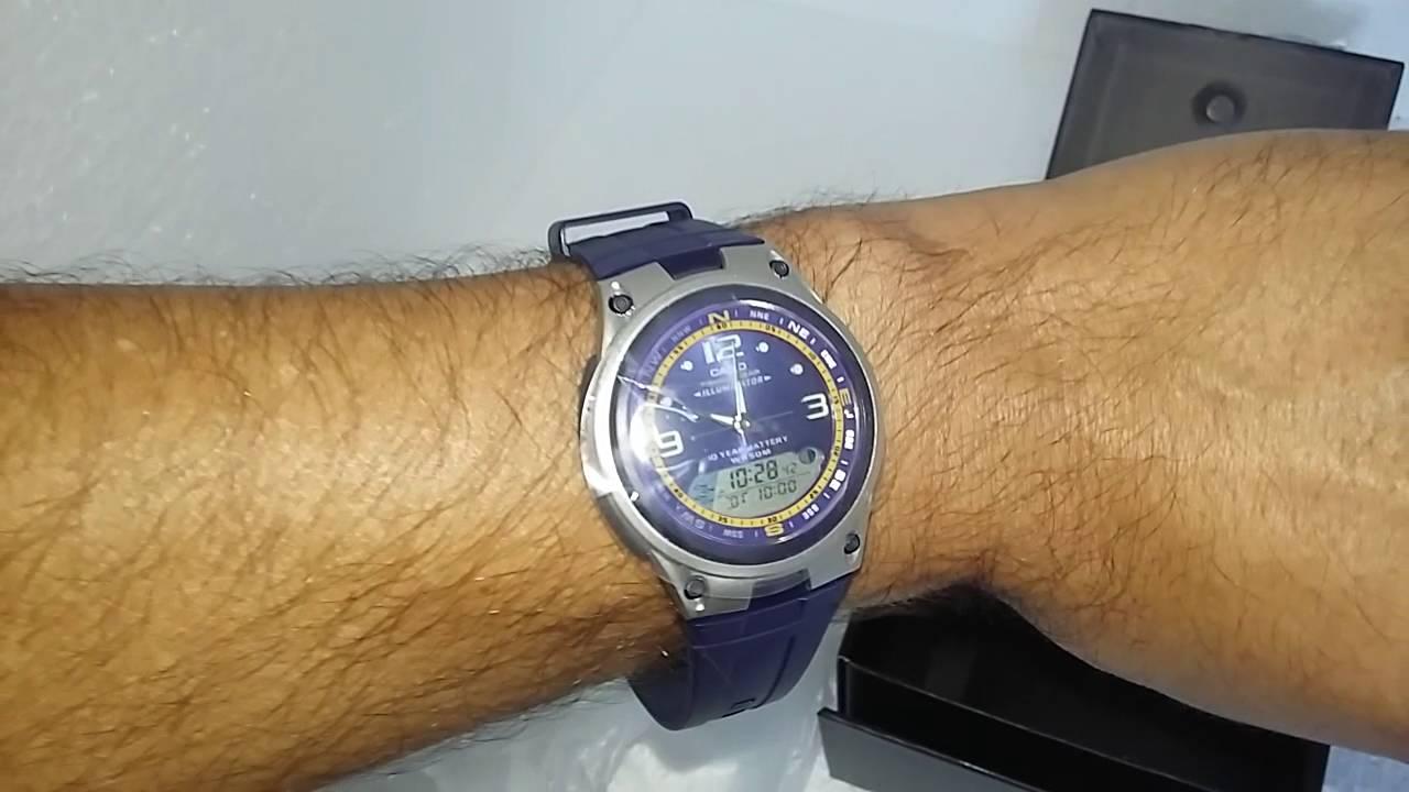 0b6ee75d2c6 Relógio Masculino Casio AW-82-2AVDF Analógico Digital Azul - YouTube