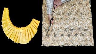 أسهل واحدث خياطة فستان بفكرة جديدة /موديل رائع لا يفوتك