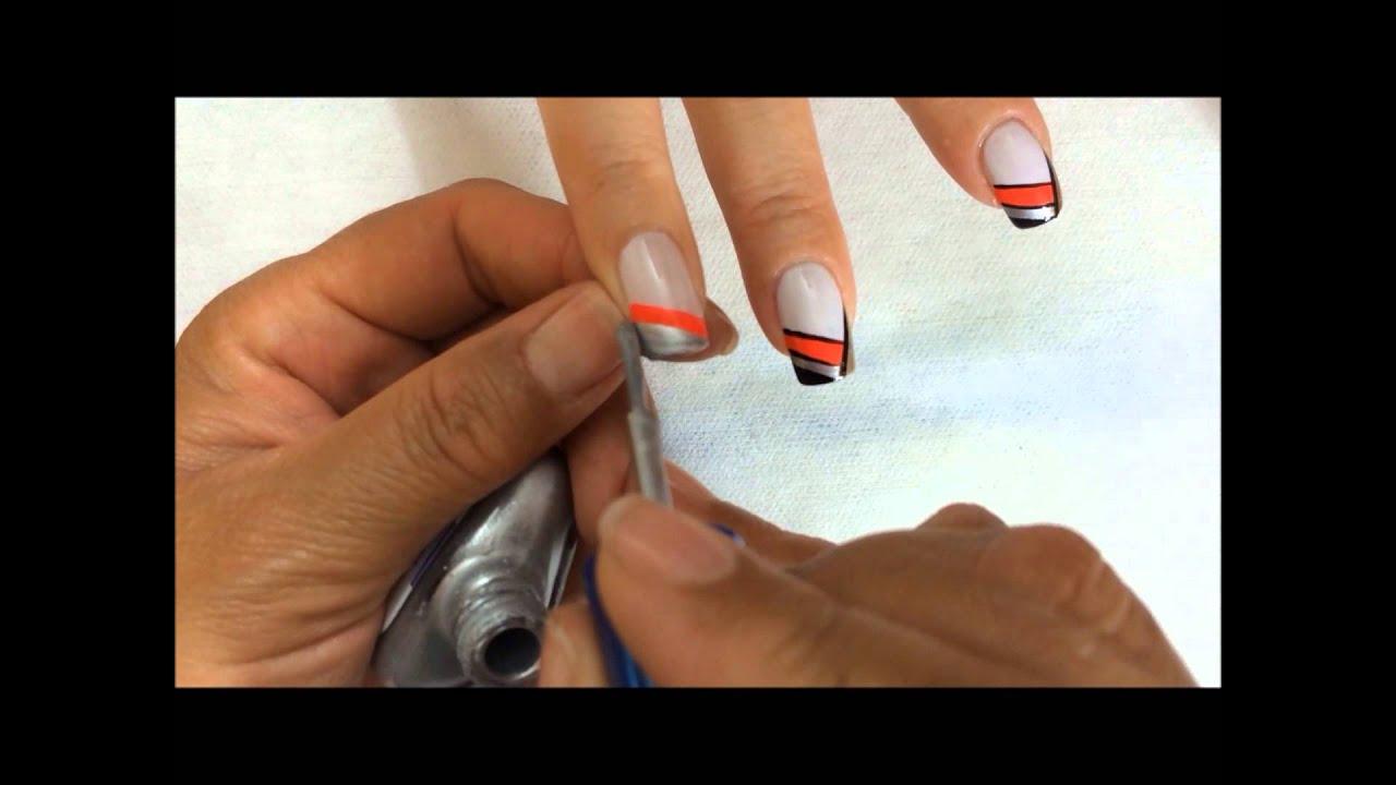 como realizar frances en colores en uñas OLNAIL - YouTube
