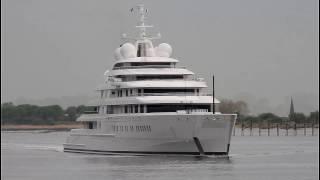 Megayacht AZZAM - longest yacht in the world - Weser height Brake Unterweser / Germany