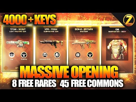 "$0 MEGA MASSIVE 4000 KEYS INFINITE WARFARE ""SUPPLY DROP"" OPENING EPIC & LEGENDARY WEAPON UNLOCKS"