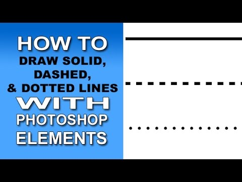 Solid, Dashed, & Dotted Lines With Photoshop Elements