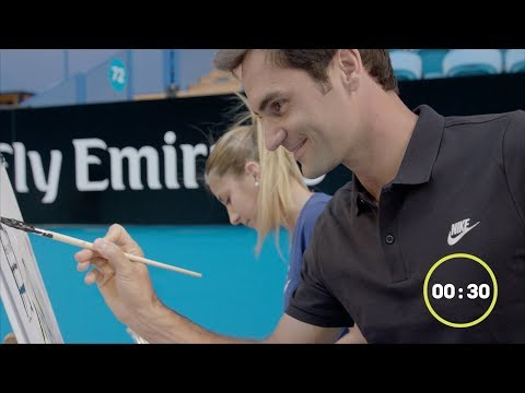 Team painting challenge   Mastercard Hopman Cup 2018