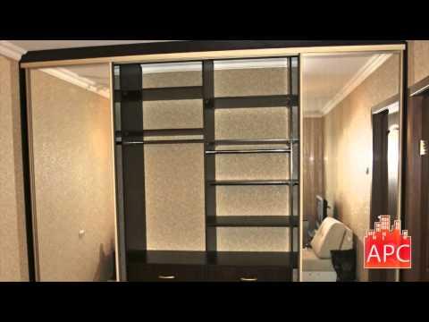 Встроенный шкаф купе с зеркальными дверями и Гардеробный шкаф купе