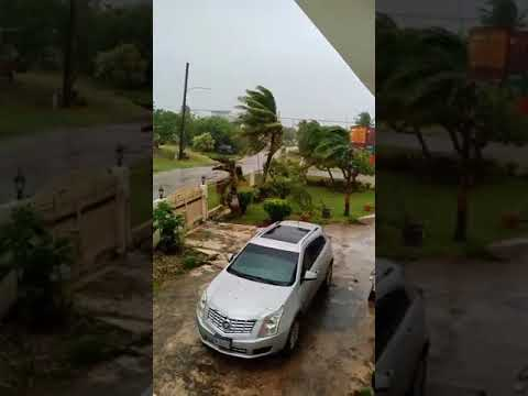 Typhoon Mangkhut effects in Saipan, Northern Mariana Islands | Sept, 10 2018